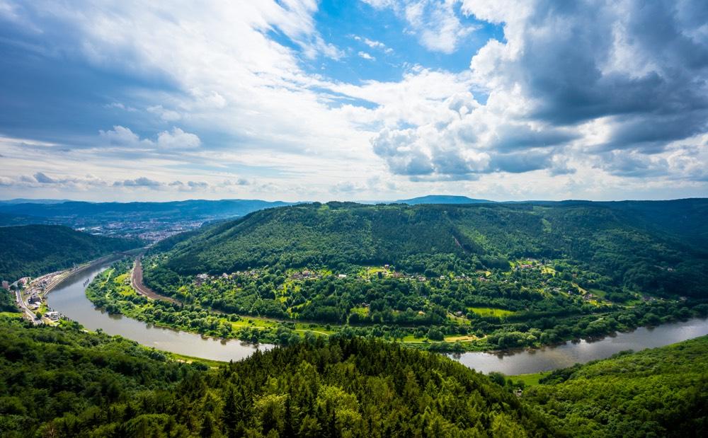 Elbe River and Elbe Canyon